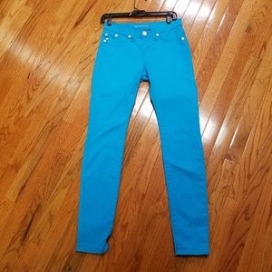 Rock & Republic Kashmere neon blue skinny jeggings